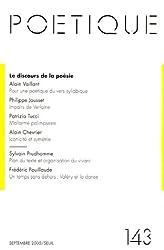 Poétique, N° 143 : Le discours de la poésie