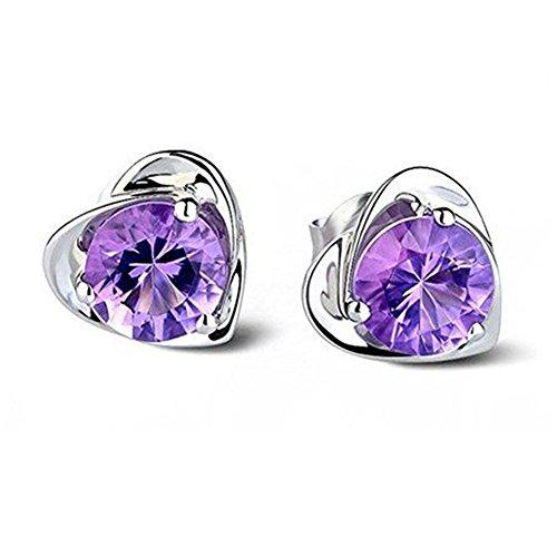 Gespout Boucles d'oreilles Femme fantaisie Cristal bleu Alliages Élégant Accessoires de bijoux Fête de danse Argente Cadeau d'anniversa