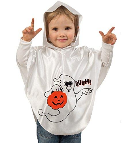 Cape Halloween LITTLE BUH Oberteil mit Kapuze 98 Baby Kostüm Kinder Halloweencape Umhang Poncho Überwurf Geist Kürbis Zauberer (Twilight Kostüm Edward)