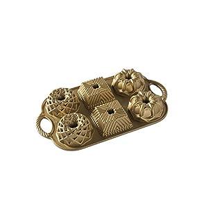 Nordic Ware 91277Geo Bundtlette Pfanne, Aluminium, Gold