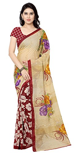 Anand Sarees Georgette Saree with Blouse Piece (2942_2_Red_Free Size)