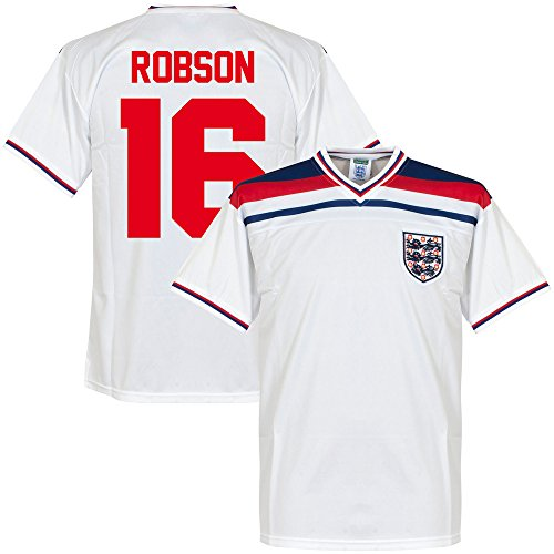 1982 England Home Retro Trikot + Robson 16 - XL