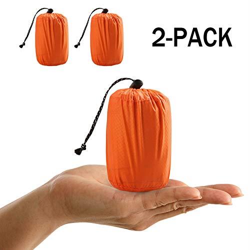 Notfall-Zelt, Emergency survival bag, Notfall Schlafsack Outdoor Tube Zelt mit Ultraleicht hitzeabweisend Kälteschutz - Gehen Notfall-kit