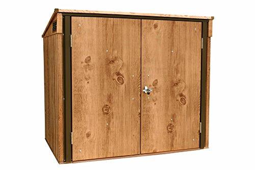 *Tepro Mülltonnen-Box für zwei Tonnen, Metall Mülltonnen-Verkleidung Mülltonnenbox*