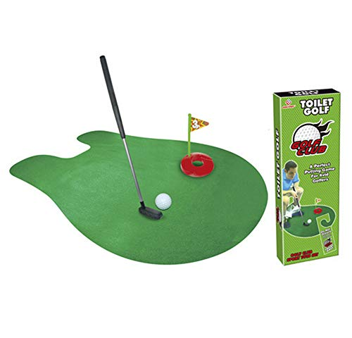 Amgend Wc Golf Putter Set Badezimmer Spiel Mini Golf Set Golf Putting Neuheit Set - Spielen Sie Golf In Der Toilette Badezimmer Zubehör Sets
