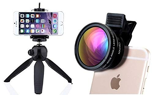 Anytech Combo of YT-228 7″ Mini Mobile Tripod with 360° Rotating Ball Head with Mobile Clip for All Smartphones with Professional HD Camera Lens Kit