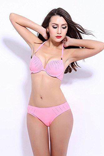 Pinkyee Damen Bikini-Set Rose