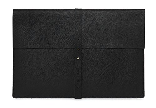 Chalk Factory Genuine Leather Sleeve/ Slipcase for ASUS x555lj-xx130d Laptop #CYNU (BLACK)  available at amazon for Rs.1919