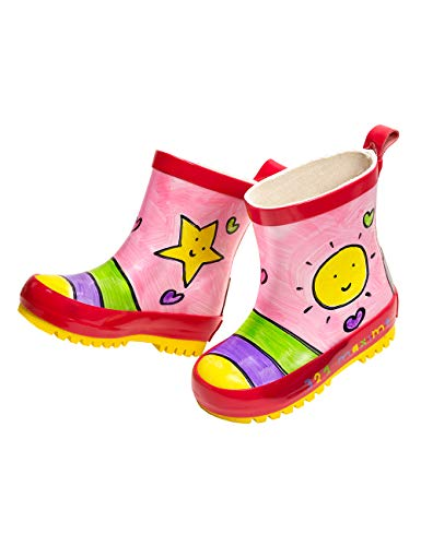 maximo 93203-891300 Kinder Gummistiefel Stiefeletten Sonne Kurzstiefel (23 EU, Mehrfarbig)