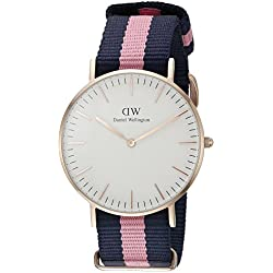 Daniel Wellington Women's Quartz Watch Classic Winchester Lady 0505DW with Plastic Strap