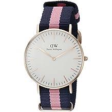 Daniel Wellington 0505DW - Reloj con correa para mujer, color azul/rosa