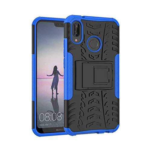 betterfon | Outdoor Handy Tasche Hybrid Case Schutz Hülle Panzer TPU Silikon Hard Cover Bumper für Huawei P20 Lite Blau Hard Silikon