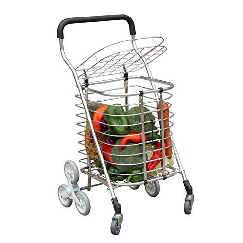 A-Lnice Faltbare 8 Runden Wheel Shopper Einkaufswagen Küche Einkaufsorganisator Wheles Rolling Climb The Stairs Trolley