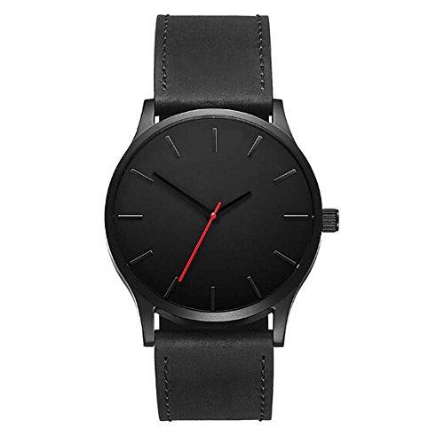 Uhren Herren Armbanduhr Mode Einfach Uhr Business Quarz Große Zifferblatt Uhr für Männer Gürtel Armbanduhr,ABsoar