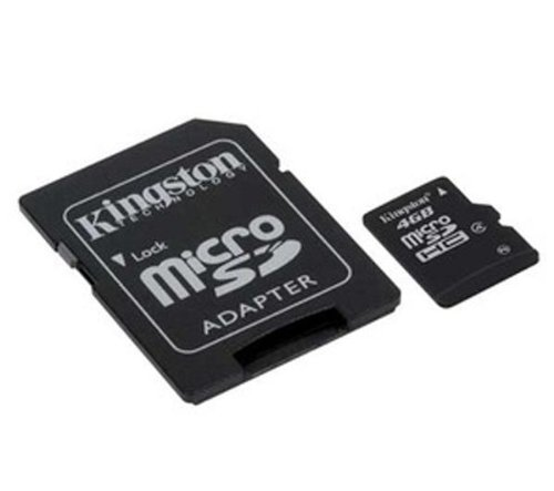 Kingston sdc4/4gb scheda microsdhc, classe 4, 4 gb