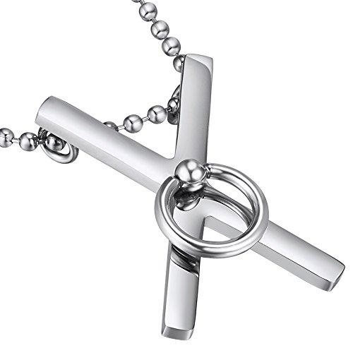 Saint Andrew's-Ciondolo a forma di croce, confezione da 14, acciaio INOX, BDSM Jewellery