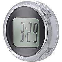 TopGreat Reloj de motocicleta resistente al agua, a prueba de golpes y ajustable. Mini reloj universal para motocicleta Reloj digital Scooter Mostrar horas y minutos