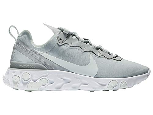 Nike W React Element 55, Zapatillas de Atletismo para Mujer, (Wolf Grey/Ghost Aqua/White 005), 42 EU
