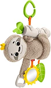 Fisher-Price - Oso Perezoso Activity, Juguete y Peluche de Actividades para Bebé Recién Nacido (Mattel FXC31)