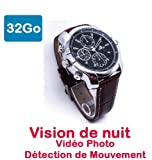 Cyber Express Electronics 40 M32 uhr Mini versteckte Kamera Spion 32 GB Full HD 1920 x 1080 Nachtsicht Flieger