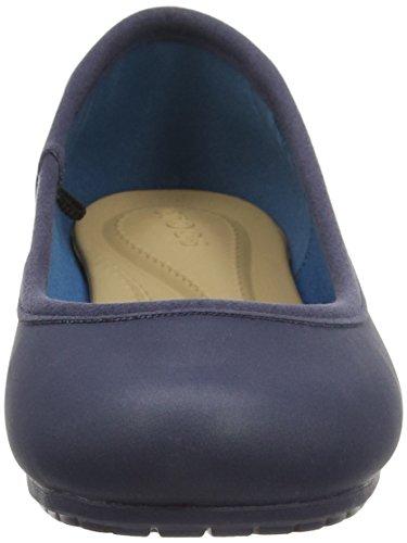 Crocs - Marincolorliteflatw, Ballerine Donna Blu (Navy/Navy)