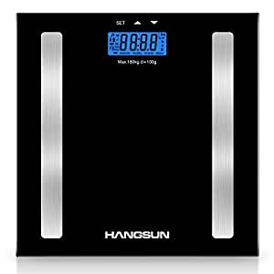 hangsun digital bathroom scales hs100 body composition analyser scale measures weight body fat. Black Bedroom Furniture Sets. Home Design Ideas