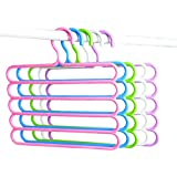 House of Quirk 5 Piece Plastic Trouser Hanger, 5 Layers