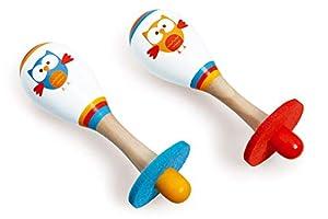 Scratch- Juguetes electrónicosInstrumentos Musicales para niñosSCRATCHScratch Music: Maracas Owl Lou diam.4.5x14.5cm, 2 Designs, in Display, 12m