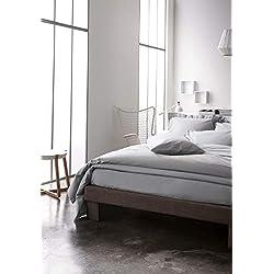 Today Drap-housse en coton - 201111 - Gris clair - 140 x 190 cm