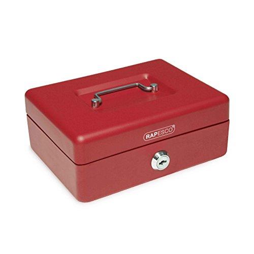 Rapesco money - Caja fuerte portátil de 20 cm de ancho con...
