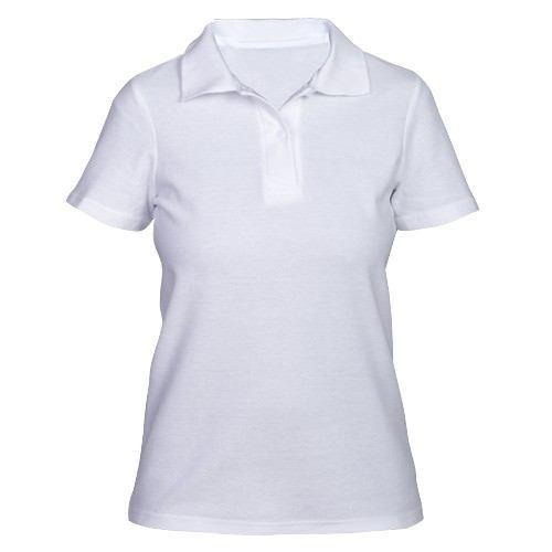 Polo Manica Corta DONNA cotone BASIC super vestibilità top qualità OTTIMA PER LAVORO UFFICIO BAR NEGOZIO (M, BIANCA)