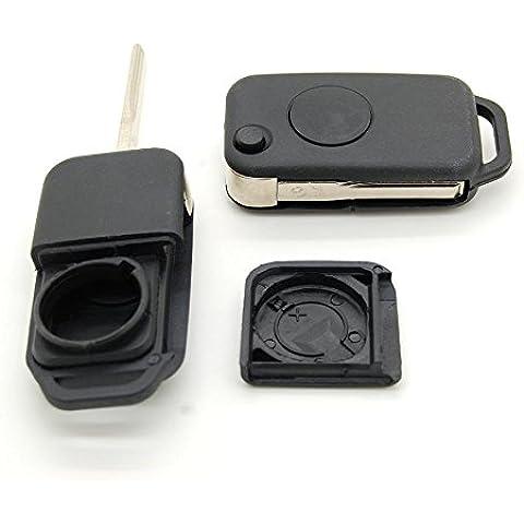 Mercedes Benz - Carcasa para llave con mando a distancia, para Mercedes SL, clase A, E y C (1 botón)