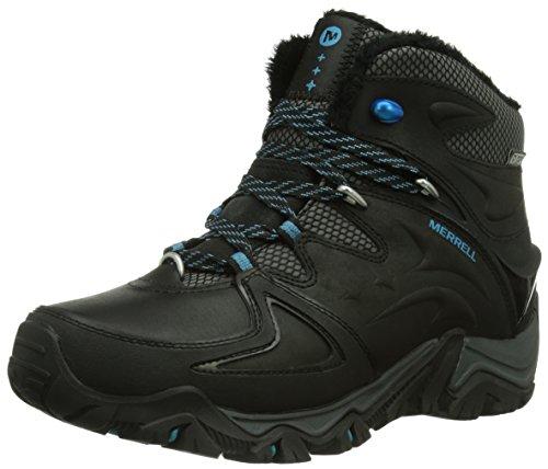 Merrell POLARAND 6 WTPF Damen Trekking & Wanderstiefel Schwarz (Black)