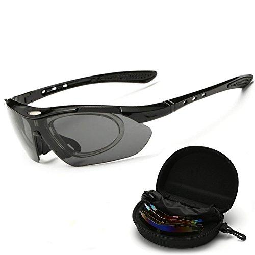 Shuda Reitbrille Unisex UV-Schutz Sonnenbrille Schutzbrille Sportbrille Arbeitsbrille -Enthält 5...