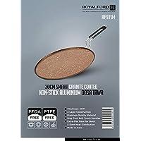Royalford 30 cm Aluminium Smart Dosa Tawa, Black, RF9704