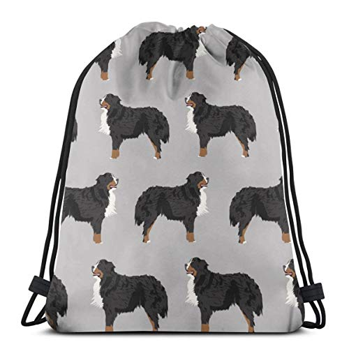 Bernese Mountain Dog Bernese Mountain Dog Dog Breed Design Dog Breed Dogs Cute Dog Design Best Dog Pet Dog_166 3D Print Drawstring Backpack Rucksack Shoulder Bags Gym Bag for Adult 16.9