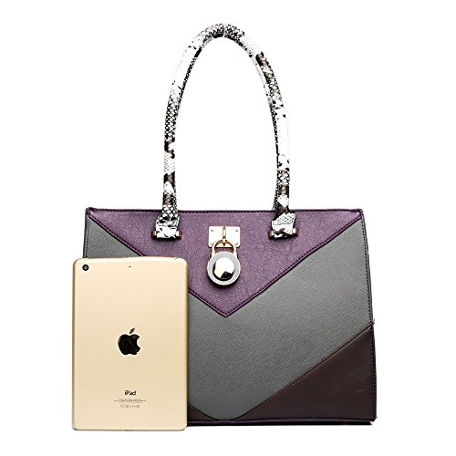 Miss Lulu - Borse a spalla donna Purple