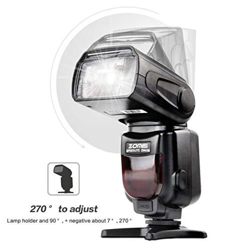 Zomei-ZM430-Torcia-Speedlite-manuale-professionale-con-display-LCD-Diffusore-Hard-Flash-per-Canon-per-Nikon-DSLR-Camera