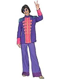 60er 70er Jahre Popstar Kostüm Sergeant Pepper Beatles Show Jacke Herren Lila