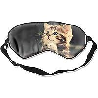 Schlafmaske, natürliche Seide, Augenbinde, super glatte Augenmaske, lustige Katze preisvergleich bei billige-tabletten.eu