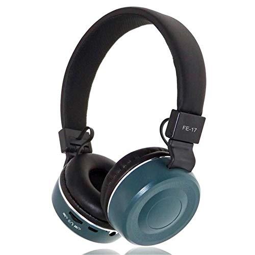 ALWAYZZ Professioneller Kopfhörer mit Geräuschunterdrückung und USB-3,5-mm-LED-Kopfbügel mit Mikrofon für den PC,Blue