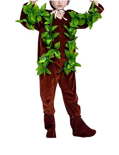 KRUIHAN Kinder Großer Baum Performance Kleidung - Party Bühne Cosplay Unisex Halloween Prop(Braun Lang ()