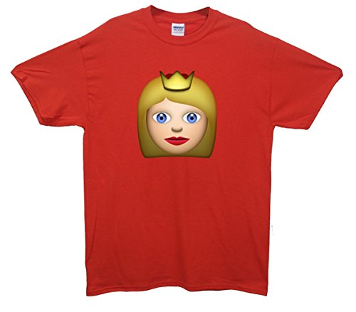 Queen Emoji T-Shirt Rot