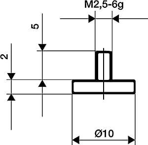 Format 7642360003–mediciñn d'utilisation d'acier de ABB. 11/10.0mm de Scarabée