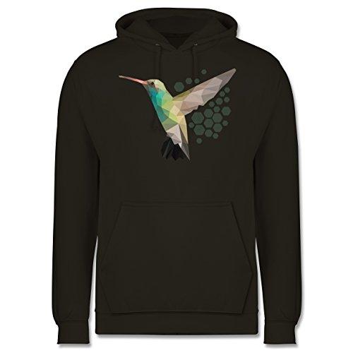 Vögel - Colibri - Männer Premium Kapuzenpullover / Hoodie Olivgrün