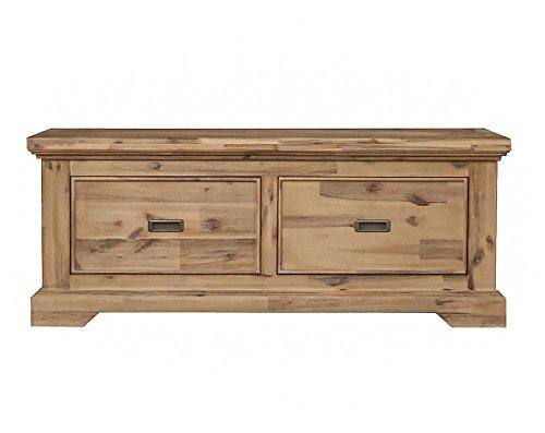 ETIENNE Couchtisch; Holz Akazie teilmassiv, gebürstet und lackiert, B 120 cm x H 50 cm x T 70 cm