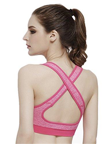 Criss Cross Rücken-unterstützung (YeeHoo Sport BH,Crosstrainer Criss-Cross Rücken Unterstützung Kein Draht)