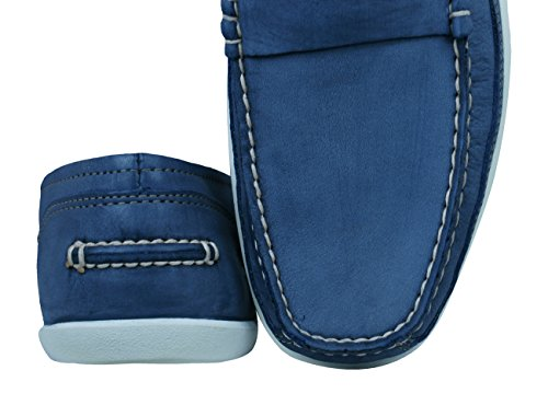Timberland Oderlay Penny Beef Roll Mens Leather Deck Shoes-Blue-6 5