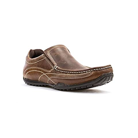 Red Tape Mens Brown Leather Slip On Shoe - Size 9 UK - Brown