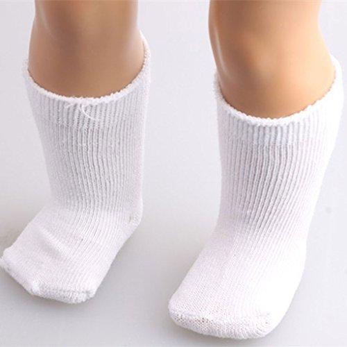 perfeclan Vestidos De Muñecas De 18 Pulgadas / Pijamas / Zapatos / Calcetines para Muñecas Americanas - Blanco